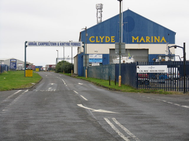 Ardrossan Harbour - entrance to the ferry terminal