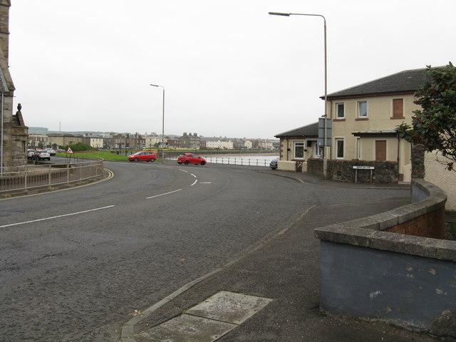 Ardrossan - Bath Villas corner from  Bath Square