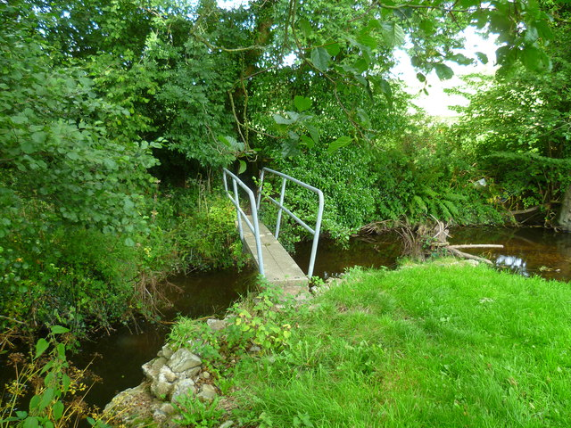 Footbridge over the River Yarty in Bishopswood