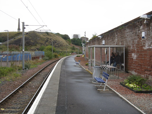 Ardrossan Town station & castle remains
