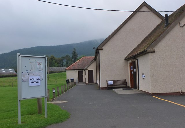Polling station, Traquair Village Hall