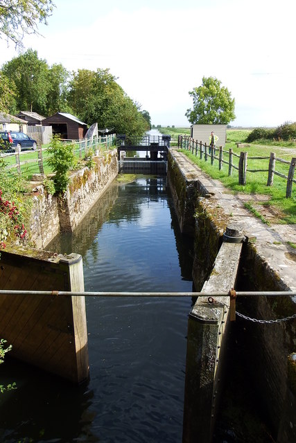 Lock at mouth of Royal Military Canal
