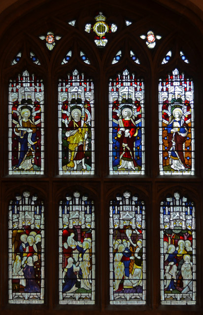 Stained glass window, St John's church, Chipping Sodbury