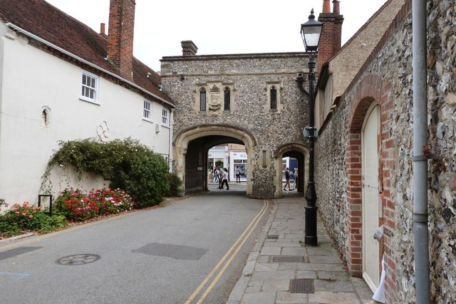 Gateway into South Street from the cathedral precinct, Chichester