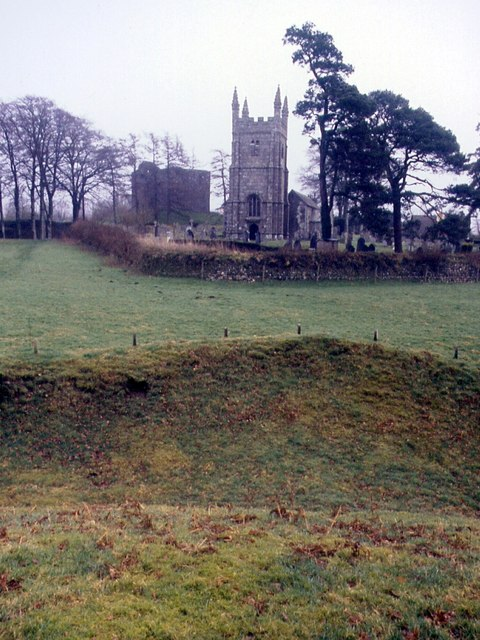 Lydford Church And Castle From The Norman Earthwork