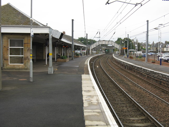 Kilwinning station - the branch platforms