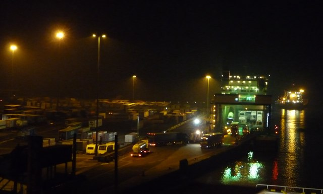 Freight ferry unloading at Parkeston Quay, Harwich