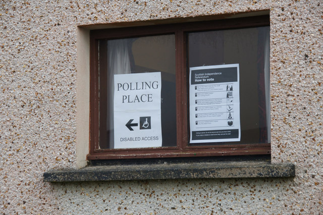Sign at the most northerly polling station, Haroldswick