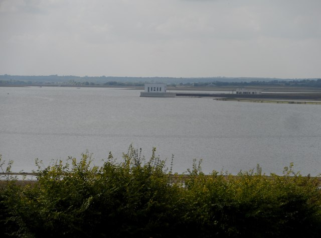 Abberton Reservoir and pumphouse