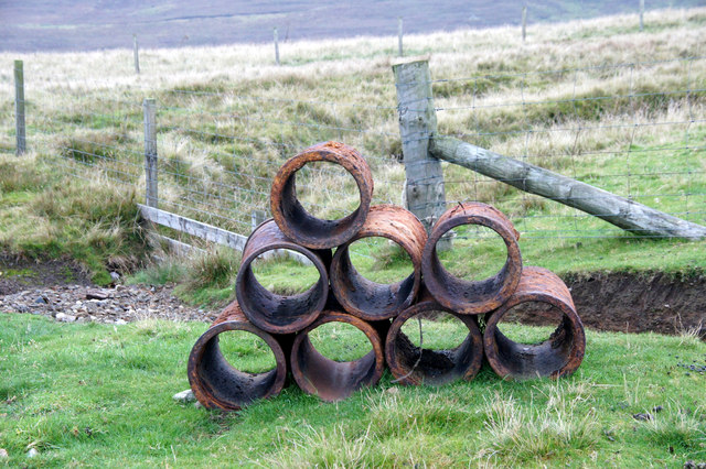 Pipes on the road above Norwick