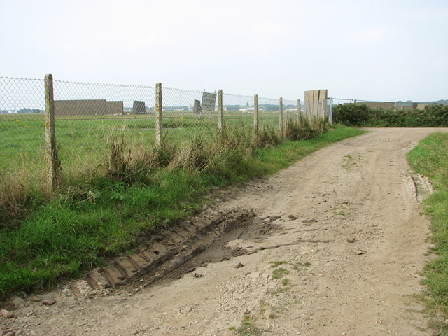 Track beside airfield