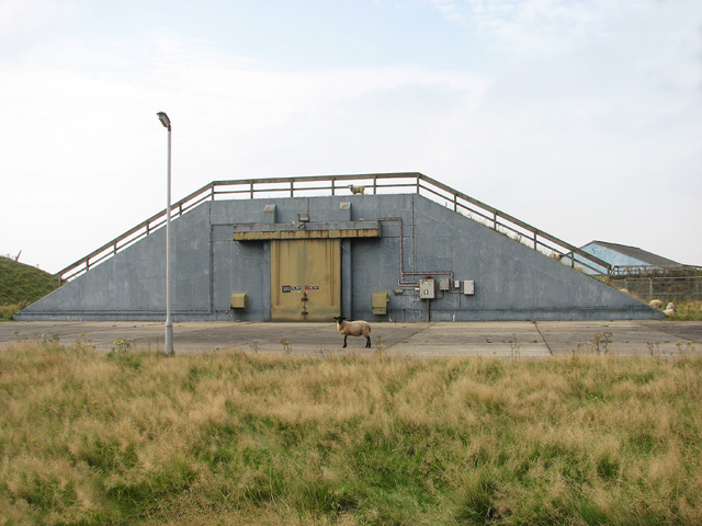 NATO munitions storage building