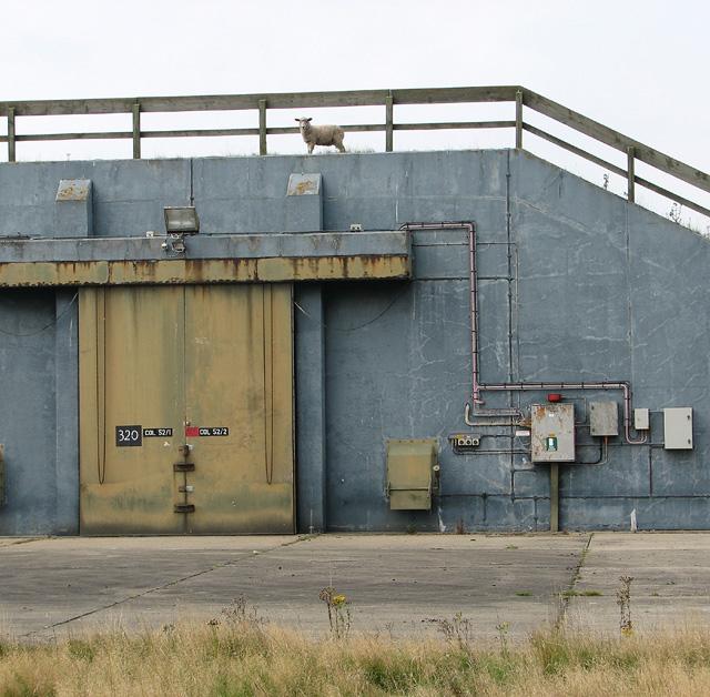 NATO munitions storage building