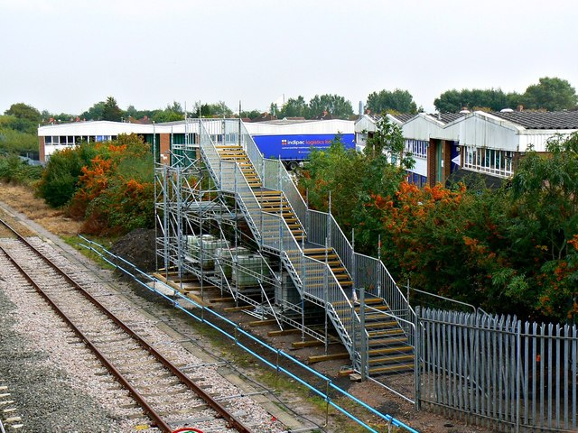 New footbridge, Paddington to the West railway, Stratton, Swindon (2)