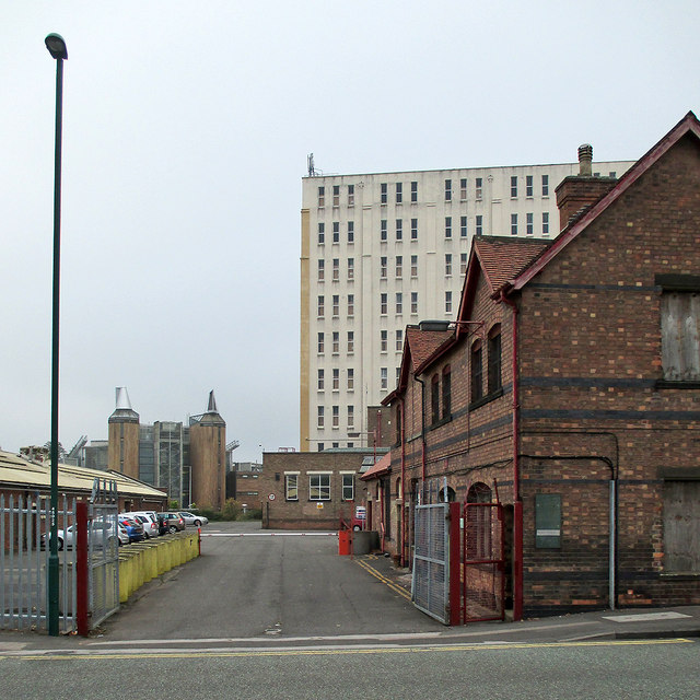 Triumph Road: the entrance to Player's Bonded Warehouse