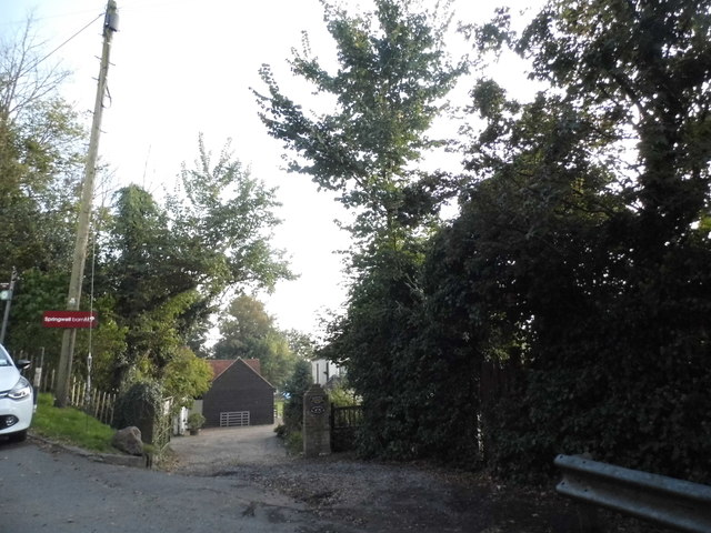 The entrance to Springwell Barn