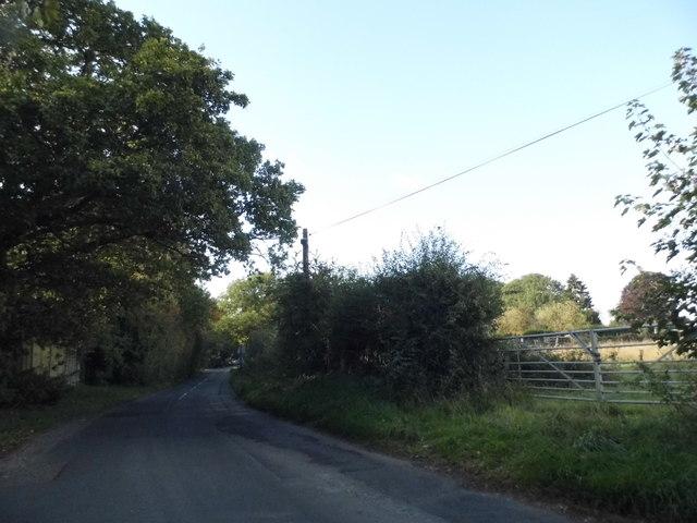 Field entrance on Burtons Lane, Little Chalfont