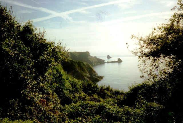 St Mary's Bay from coastal path