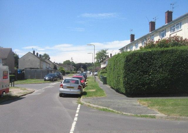 View along Clayton Road