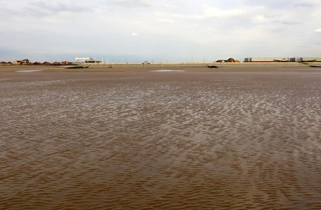 Cleveleys beach at low tide