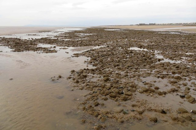 Tide pool on Cleveleys beach