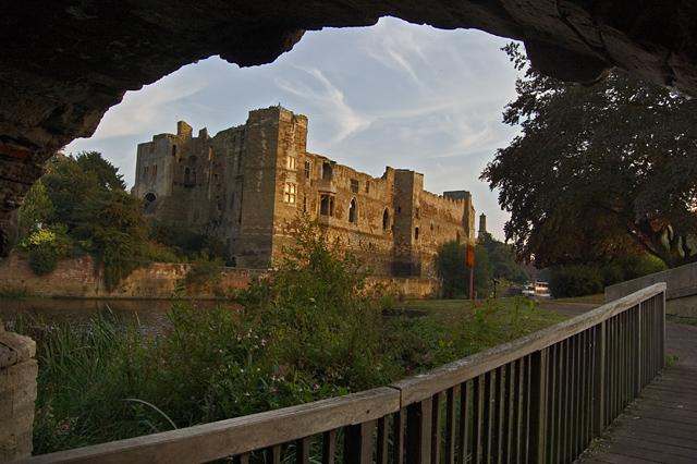 Newark Castle from under the bridge