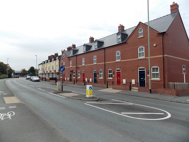 Recently-built housing, Gobowen Road, Oswestry