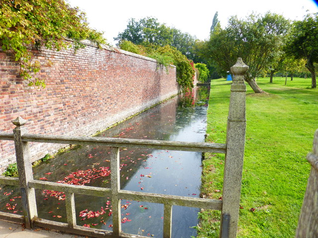 Moat at Barrington Court