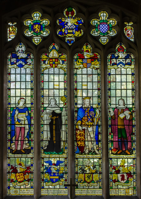 Stained glass window, St Lawrence church, Hawkhurst