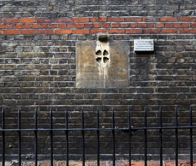 St Michael & All Angels, Borgard Road, Woolwich, London SE18 - Foundation stone