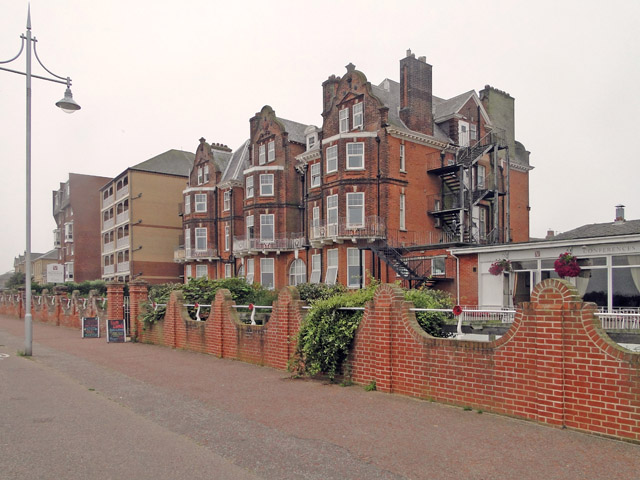 The Victoria Hotel, Lowestoft from the promenade