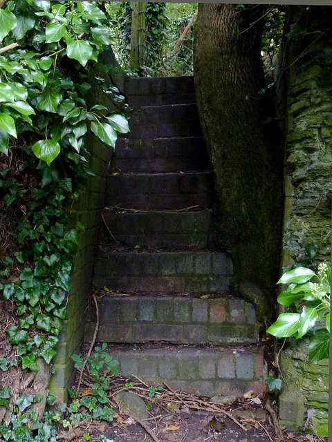 Steps from the towpath near Wilmcote, Warwickshire