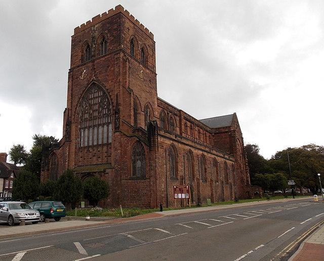 South side of Shrewsbury Abbey