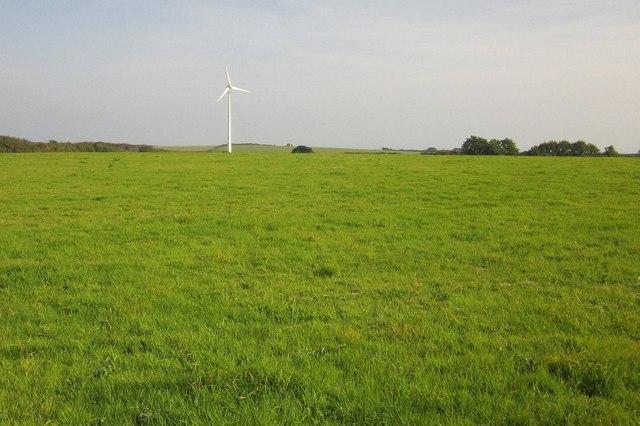 Wind turbine near Parker's Cross