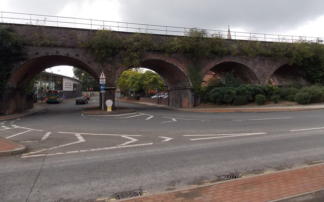 Four railway arches, Shrewsbury