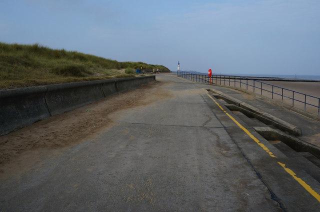 Wales Coast Path at Ffrith Beach
