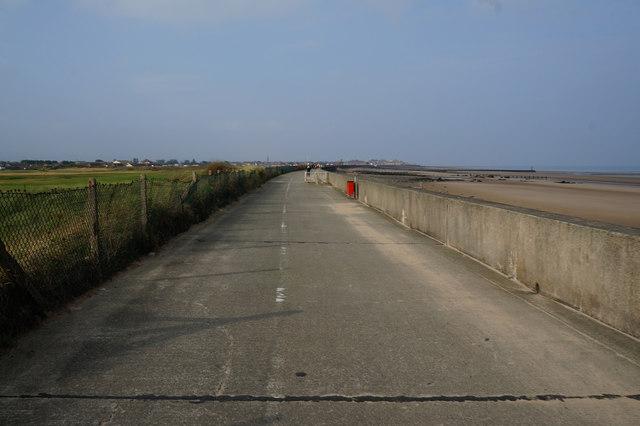 Wales  Coast Path towards Rhyl