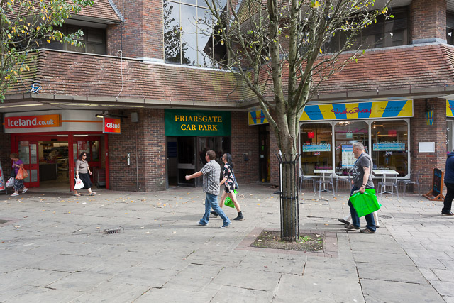 Pedestrianised part of Middle Brook Street