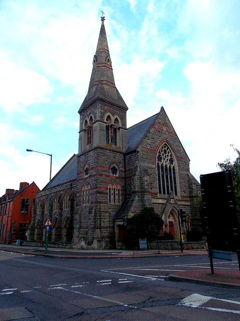Tower and spire, United Reformed Church, Shrewsbury