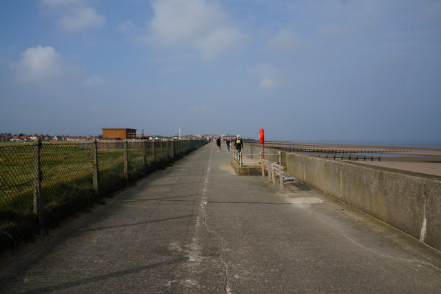 Wales  Coast Path towards Rhyl