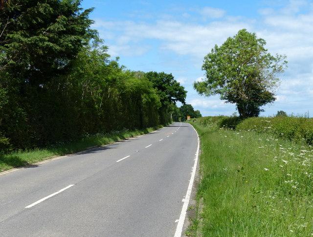 North along the B4455 Fosse Way