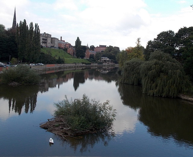 Islet in the River Severn, Shrewsbury