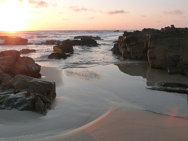 Saligo Bay at sunset