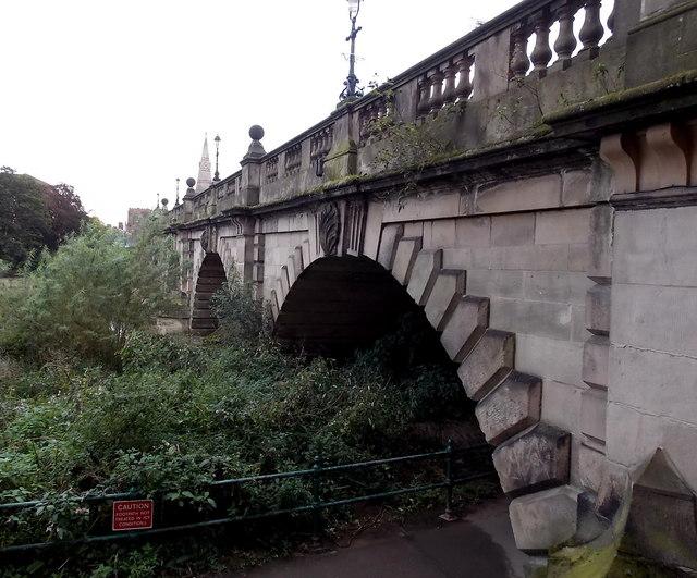 Western end of English Bridge, Shrewsbury