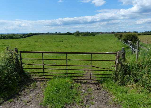 Gate and field along the Fosse Way