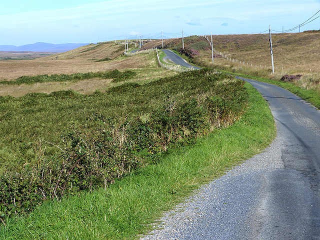 Switchback road along the south side of Loch Gorm