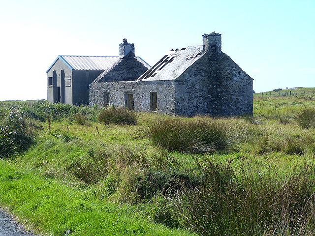 Ruined cottage at Ballinaby