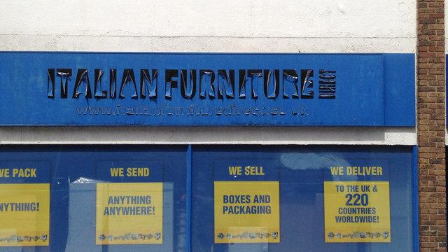 Fascia of vacant shop, East Street, Southampton