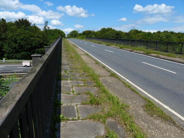 Fosse Way bridge crossing the M6 motorway