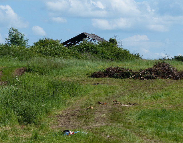 Derelict farm building next to the M6 motorway
